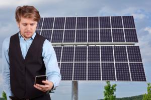 Handy-App für Photovoltaik-Anlage