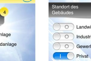 Handy-App Photovoltaik-Anlage