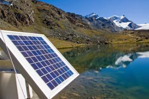 Solaranalge in den Berge